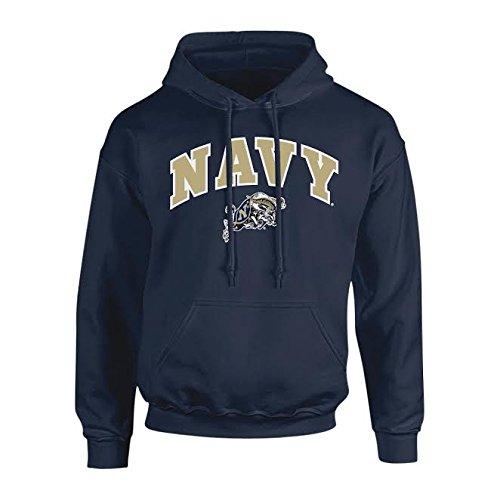 - Elite Fan Shop NCAA Men's Navy Hoodie Sweatshirt Team Color Arch Navy Midshipmen Navy XX Large