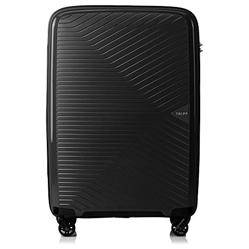 Tripp Black Chic Medium 4 Wheel Expandable Suitcase