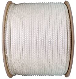 Wellington G1008S0600 Solid Braid Nylon Rope, 1/8-Inch by 600-Foot, White
