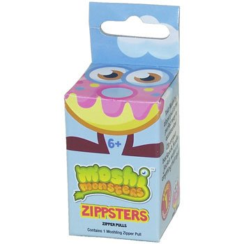 Moshi Monsters ZIPPSTERS Booster Pack 1 RANDOM Figure Zip Clip