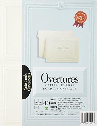 Overture Set - St. James Overtures Capital Emboss Ivory Note Cards, 40 sets (71029)