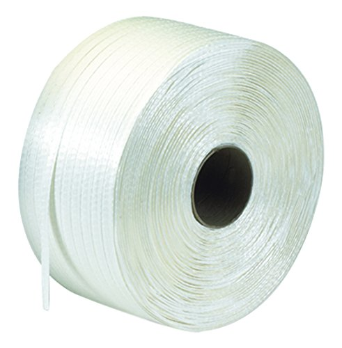 """Tape Logic TLPSC126 Poly Cord Strapping, 1/2"""" x 3900', Wh..."""