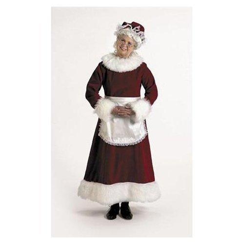 Halco 7051-12 Mrs. Claus Long Velvet Dress - Large