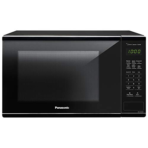 Panasonic Countertop Microwave Oven with Genius Sensor Cooking, Quick 30sec, Popcorn Button, Child Safety Lock and 1100 Watts of Cooking Power - NN-SU656B - 1.3 cu. ft (Black) ()
