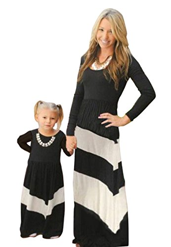 Casual OMZIN Black Dress Family Me Outfits Matching Dress Boho Mommy and anxnB1U
