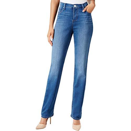 Lee Platinum Label Womens Petites Gwen Whisker Wash Classic Jeans Blue 14P ()