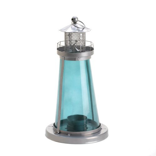 15 Wholesale Set of Blue Glass Watch Tower Candle Lamp (Watch Tower Candle Lantern)