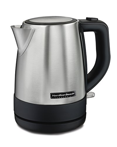 Hamilton Beach Commercial HKE110 1 Liter Hot Water Tea Kettle, Hospitality Rated, Stainless Steel (Commercial Hot Water Heaters)