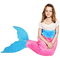 BATTOP Pink Mermaid Tail Super Soft Blanket Crystal...