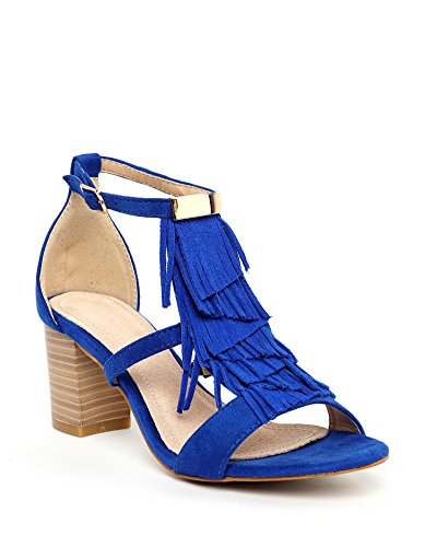 JEZZELLE - Sandalias de vestir para mujer Azul