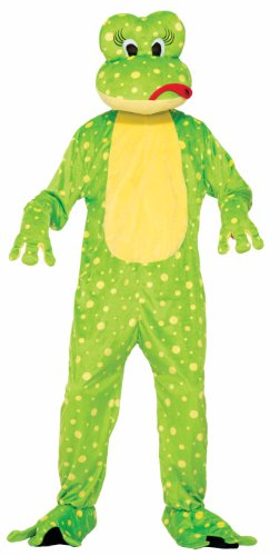 Frog Prince And Princess Costume - Forum Novelties Men's Freddy The Frog Plush Mascot Costume, Green, One Size