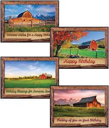 Barn Country - Scripture Greeting Cards - KJV - Boxed - Birthday