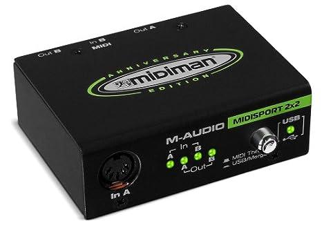M-Audio MIDISPORT 2x2   Interface MIDI 2 Entr/ées//2 sorties Aliment/ée par USB /Édition anniversaire