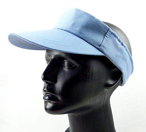 Cap 4489 sportliche Tennis Muetze blue oben offen mit Klettverschluss türkis