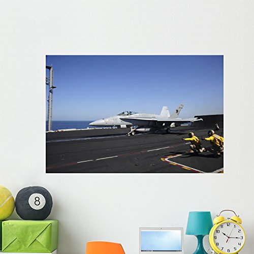 - F A-18c Hornet Launches Wall Mural by Wallmonkeys Peel and Stick Graphic (48 in W x 32 in H) WM215362