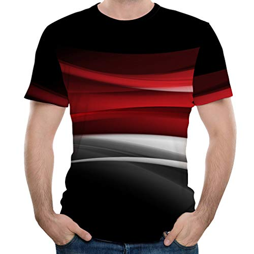 Photno Men 3D Printed Short Sleeve T Shirts Fashion Graphic Tops Summer Tees Plus Size]()