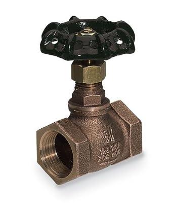"Bronze globe valve; 1-1/4"" NPT(F)"