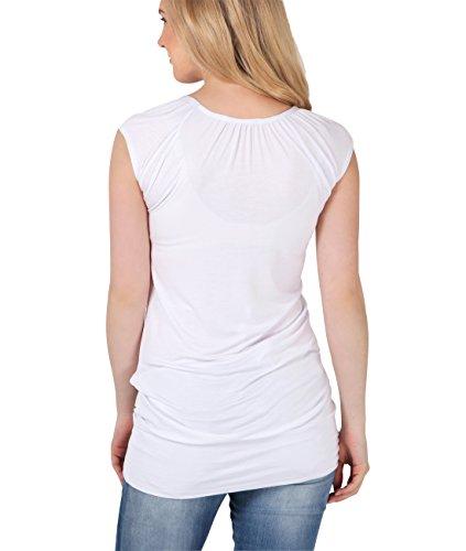 Premaman Elastica KRISP Pancia White Donna Maglia Contenitiva Gravidanza q7xARxw