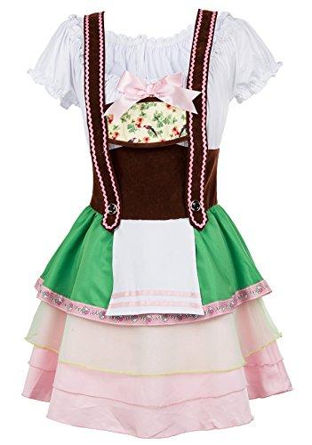 Alivila.Y Fashion Oktoberfest Costumes Beer Girl Maid Dress 31685-Green-L]()