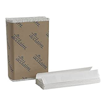 "Georgia-Pacific Acclaim 20603 White C-Fold Paper Towel, (WxL) 10.100"" x 13.200"" (Case of 10 Packs, 240 Towels per Pack)"