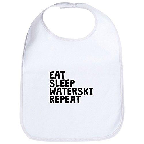 CafePress Eat Sleep Waterski Repeat Cute Cloth Baby Bib, Toddler Bib