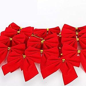 H-O Fiocco di Natale, 50 Decorazioni con Fiocco Natalizio e 100 Nastri Dorati, per Ornamenti per Alberi di Natale, Regali per Feste, Decorazioni Fai-da-Te 1 spesavip