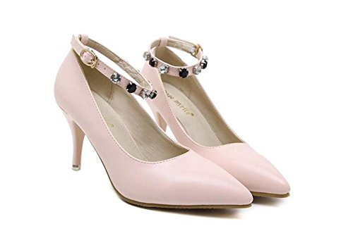 xie Pointure Toe Court Chaussures Minces avec des Chaussures à Talons Hauts Sexy Buckle Diamond Shoes L2Kz8uNb
