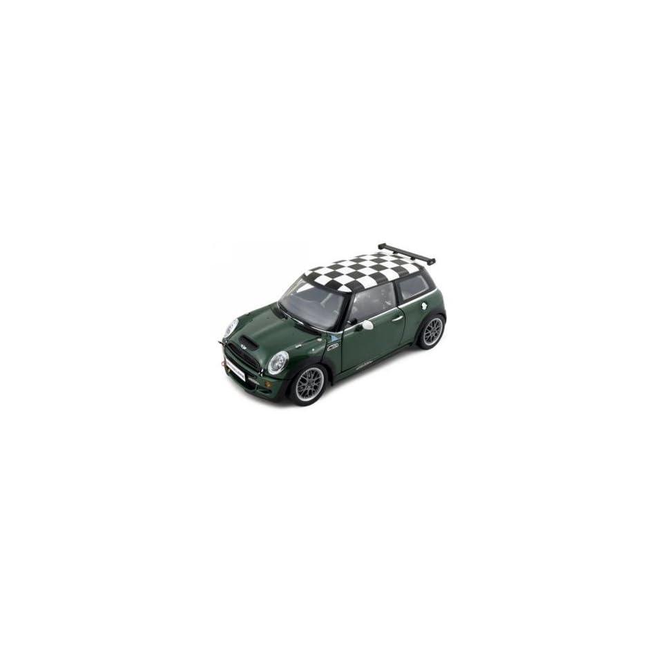 Mini Cooper S John Cooper Works Challenge Diecast Car Model 1/18 Green