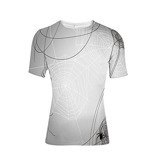 T-Shirt for Men,Webs Halloween Inspired Design Dangerous Cartoon,3D -
