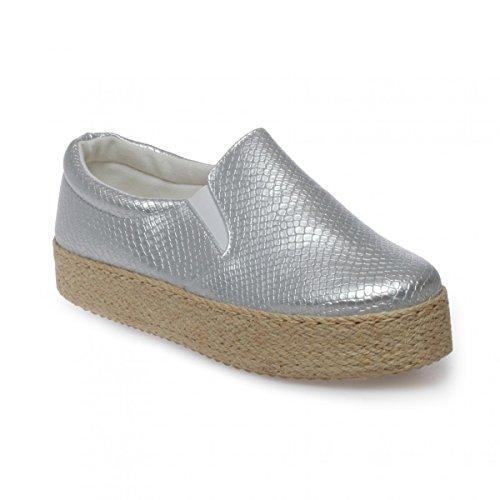 La Modeuse - Zapatillas de deporte para mujer plata