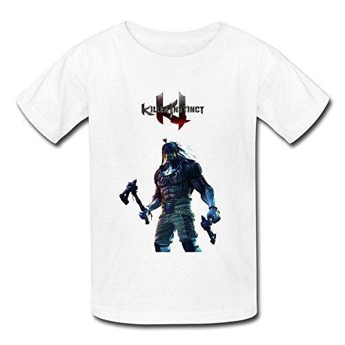 Price comparison product image QMY Kid's Photo Chief Thunder Killer Instinct T-shirts Size L White