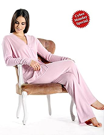 Pure Cashmere Lounge and Pajama Set for Women at Amazon Women's ...