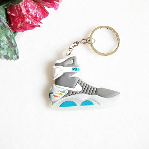 Nike Air Mag Back to the Future 2D Flat Sneaker Keychain by (Back To The Future Mag Shoes)
