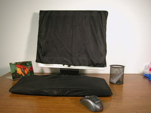 Keyboard-and-Monitor-Dust-Cover-Black