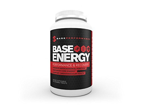 BASE Performance Energy | Contains pure D-ribose to reduce the loss of energy during stress and accelerate energy and tissue/muscle recovery, chewable tablet - 90 day supply