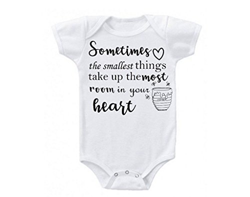 Winnie The Pooh Quote Love Cute Funny Trendy Stylish Baby Babies Bodysuit (Newborn)