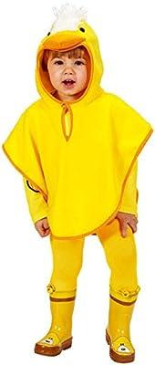 Pollito Peluche Poncho infantil Disfraz Amarillo Naranja: Amazon ...
