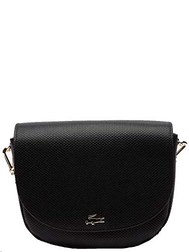 Lacoste Chantaco - Sacs à bandoulière pour femme, Noir (noir), 6,5x21x22 Cm (l X H L)
