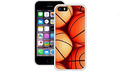 Basketbälle | Handgefertigt | iPhone 5 5s SE | Weiß TPU Hülle