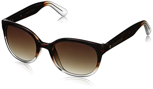 Adrienne Vittadini Women's AV1010-217 Glam Cateye Sunglasses, Tortoise & Clear Gradient, 52 - Vittadini Sunglasses Adrienne