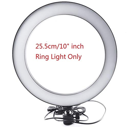 DishyKooker 16//26cm Dimmable LED Studio Camera Ring Light Phone Video Light Lamp Selfie Stick Ring Table Fill Light Single lamp 16CM Electronic Cell Phones Accessories for Travel//Work