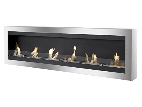 Ignis Maximum Wall Mount Ventless Ethanol Fireplace with (Best Ethanol Fireplace With Glasses)