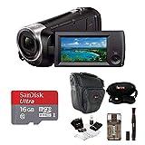 Sony HDR-CX440/B Full HD Video Handycam Camcorder w/Sony 16GB SD Card Bundle