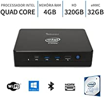 PC Mini Intel Quad Core 2.2Ghz,4GB,Porta Serial,Windows 10,32GB+320GB,WiFi,Bluetooth,3green