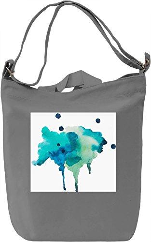 Watercolor Full Print no. 6 Borsa Giornaliera Canvas Canvas Day Bag| 100% Premium Cotton Canvas| DTG Printing|