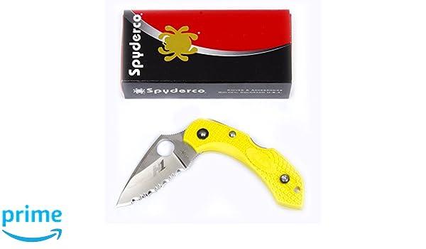 Spyderco Dragonfly2 Salt Navaja, Unisex Adulto