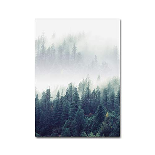 Wall Art Picture Decoration Forest Landscape Wall Art Canvas Poster and Print Canvas Painting Decorative Picture for Living Room Home Decor,30X40Cm No Frame,Picture 1
