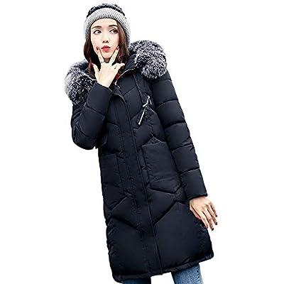 Coats For Women, Clearance!! Farjing Women Outerwear Fur Hooded Coat Long Cotton-padded Jackets Pocket Coats
