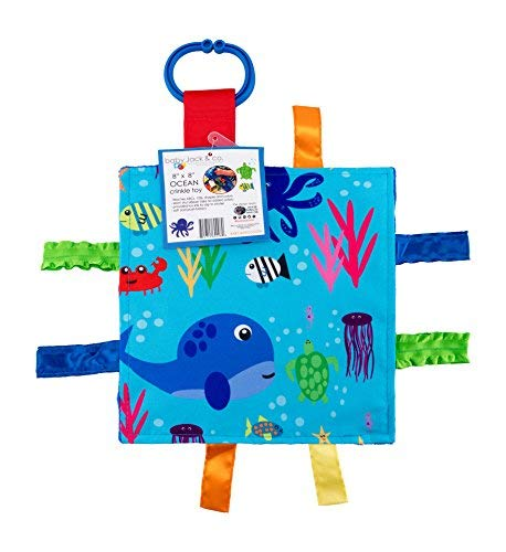 - Baby Sensory Crinkle & Teething Square Lovey Toy with Closed Ribbon Tags for Increased Stimulation: 8