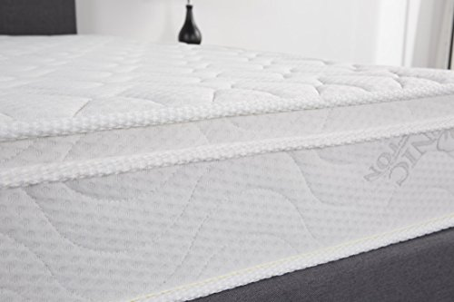 (Oliver Smith - Organic Cotton - Euro Top - Revitalize Sleep - 8 Inch - Pocket Spring - Luxury Mattress w Green Memory Foam Certified -)